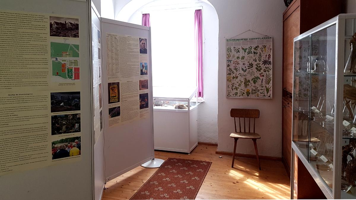 Viel Info im kleinen Ausstellungsraum